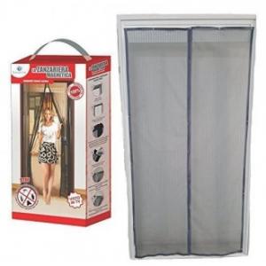 Zanzariera Grigia 140x240 cm Per Porte Facile Da Installare Con Chiusura Magnetica Casa Utile e Funzionale