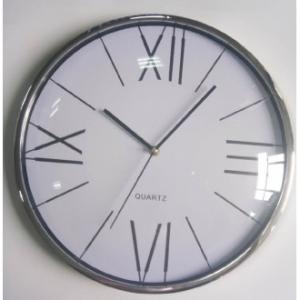 Orologio Da Parete Linea Cefeo 35x2 cm Contorno Silver Classico Da Cucina Casa Arredo