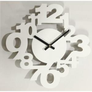 Orologio Da Parete Linea Talitha 34x34 cm Decorato Contorno Non Definito Numeri Bianchi Particolare Casa Arredo