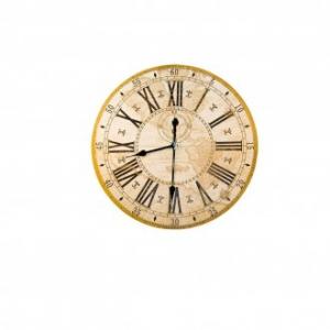 Orologio Da Parete 50 Cm Linea Mondo Antico Decorato Beige Marrone Stile Antico Casa Arredare Arredo