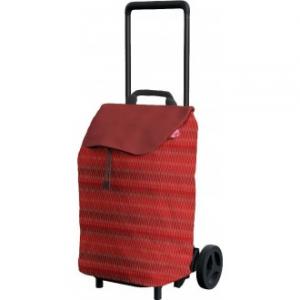 Carrello Da Spesa Modello Trolley Easy Red Colore Rosso Con Ruote Con Chiusura Spesa Funzionale