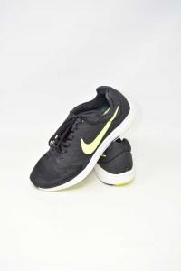 Shoes Man Nike Downshifter7 N°.43 Black Yellow Fluo