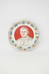 Piatto In Ceramica Giovanni Paolo Secondo Diametro 20 Cm