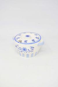 Formaggera In Ceramica Con Coperchio A Forma Di Pentola