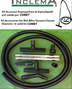 KIT tubo flessibile e Accessori Aspirapolvere e aspiraliquidi CV 30 X ø35 (tubo diametro 32) valido per COMET