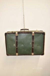 Valigia Verde Vintage 66x40x21 Cm