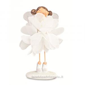 Ballerina in piedi in resina e stoffa 11 cm - Bomboniere comunione bimba