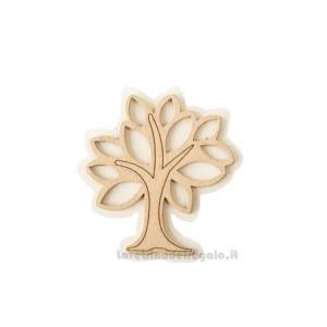 Applicazione Albero della Vita Beige in legno 4 cm - Decorazioni