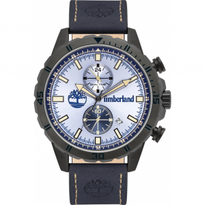 Timberland Dunford Orologio uomo cinturino pelle blu TBL.16003JYU/08