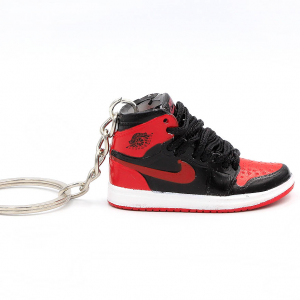 Air Jordan 1 retro high Bred Banned portachiavi sneaker da collezione