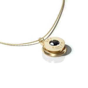 Collana con pendente finitura oro 24kt, gemma PRECIOSA black e catenina in argento