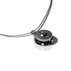 Collana con pendente finitura rodio nero, gemma PRECIOSA black e catenina  in argento