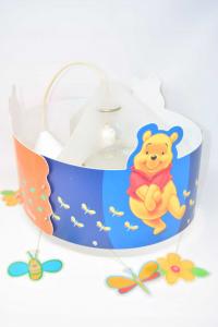 Lampadario Cameretta Bimbi Slamp In Plastica Tondo Winnie The Pooh 40 Cm Diametro