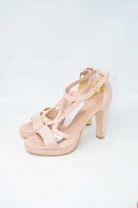 Shoes Col Heel Woman Raffinè Pink Made In Italy N° 39