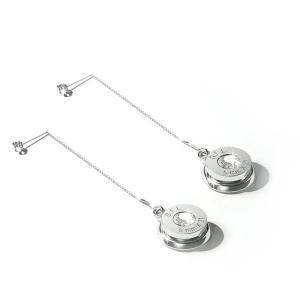 Orecchini pendente con finitura argento, corpo in argento sterling e gemma neutra