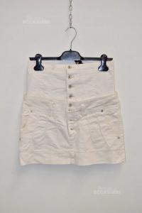 Minigonna Woman Gaudi White Scomponibile Size 42
