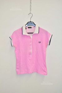 Polo Woman Fred Perry Pink Sizexl Fantasy Cuoricini White