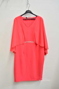 Dress Woman From Cerimonia Size.52donna Gi Color Peach