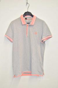 Polo Man Gaudi Size M Grey Pink