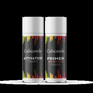 Kit  Attivatore+Primer Marrone formato bombolette