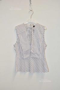 Shirt Woman Patricia Pepper Striped Size.42 Sleveless