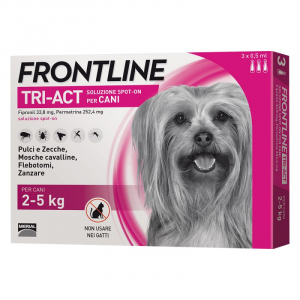 FRONTLINE TRI-ACT PER CANE 2-5KG 3 FIALE SPOT-ON