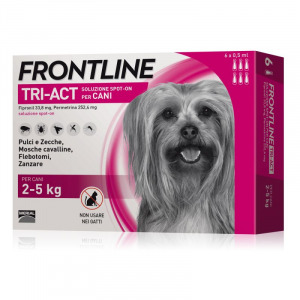 FRONTLINE TRI-ACT PER CANE 2-5KG 6 FIALE SPOT-ON