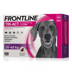 FRONTLINE TRI-ACT PER CANE 20-40KG 6 FIALE SPOT-ON