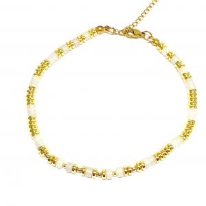 CAVIGLIERA PIETRE GOLD WHITE