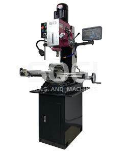 Fresatrice trapano con basamento SOGI S4-80D visualizzata 3 assi con discesa automatica