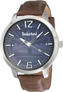 Timberland  orologio uomo con cinturino in pelle marrone TBL.15899JYS/03-G