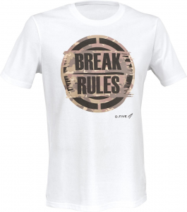 T-shirt BREAK RULES WHITE
