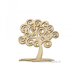 Applicazione Albero della Vita in legno 4x5.5 cm - Decorazioni