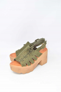 Zeppe Donna Sweet Shoes Verde Militare N.36