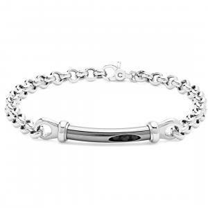 Comete Royal bracciale uomo in argento lucido e brunito UBR999