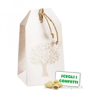 Portaconfetti bustina Albero della Vita 5.5x3.5x10 cm - Scatole bomboniere