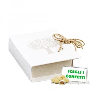 Portaconfetti Libro Albero della Vita 14.5x4x14.5 cm - Scatole bomboniere