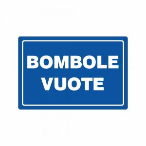 Cartello Bombole vuote