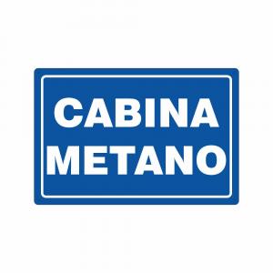 Cartello Cabina metano