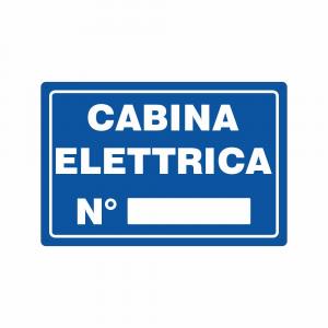 Cartello Cabina Elettrica con numero