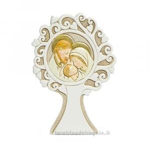 Albero della Vita con Sacra Famiglia in resina 10 cm - Bomboniera battesimo e comunione