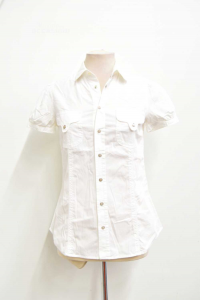 Shirt Sleeves Short Woman Dsquared White Size.44