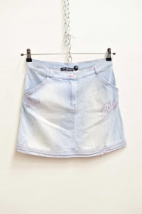Skirt Woman In Jeans Miss Bluemarine Size.s / M