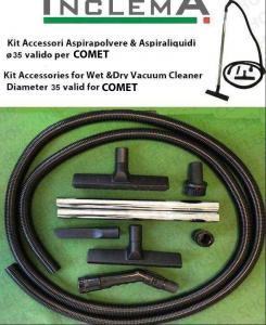 KIT tubo flessibile e Accessori Aspirapolvere e aspiraliquidi CV 20 X ø35 (tubo diametro 32) valido per COMET