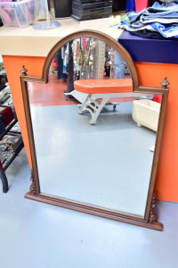 Specchio Con Cornice In Legno 110x95cm