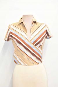 Shirt Liu Jo Beige Rige To Intertwining Size.40