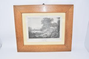 Quadro Stampa Raffigurante Un Paesaggio Di Landschaft Dimensione 37 X 44 Cm