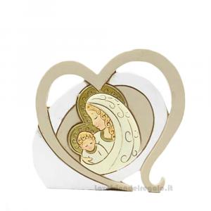 Icona Amore Maternita' in resina 10 cm - Bomboniera battesimo e comunione