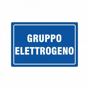 Cartello gruppo elettrogeno