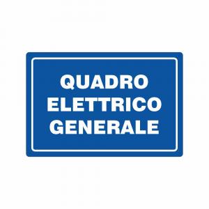 Cartello quadro elettrico generale